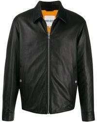 KENZO Tonal Tiger Motif Embroidered Jacket - Black