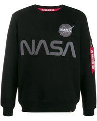 Alpha Industries Nasa スウェットシャツ - ブラック