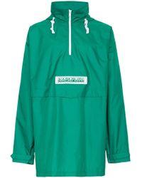 Martine Rose - Green Hooded Short Coat - Lyst