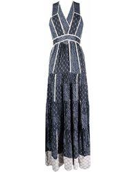 Ulla Johnson パッチワーク ドレス - ブルー