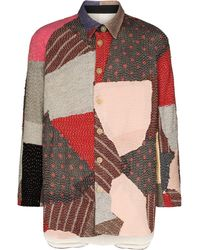 By Walid Giacca-camicia patchwork Miles - Multicolore