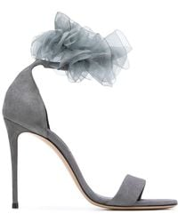 Casadei - Ruffle Embellishment Sandals - Lyst