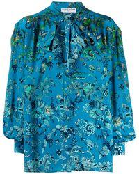 Givenchy Floral Print Shirt - Blue