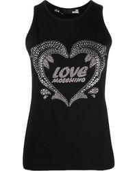 Love Moschino ロゴ トップ - ブラック