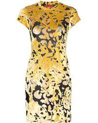 Eckhaus Latta Shrunk Floral Mini Dress - Yellow