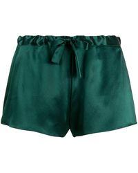 Gilda & Pearl Pantalones cortos de seda Sophia - Verde