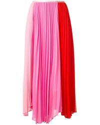 Calvin Klein ハイウエスト プリーツスカート - ピンク