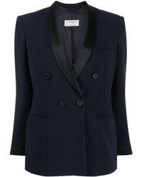 Alberto Biani Fitted double-breasted blazer - Blu