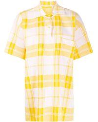 Jacquemus Torchon Chequered Polo Shirt - Yellow