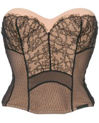 Dior Pre-owned Strapless Lace Bustier - Pink