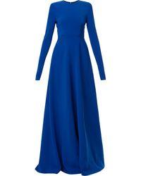 Carolina Herrera プリーツドレス - ブルー