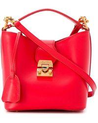 Mark Cross Murphy Bucket Bag - Red