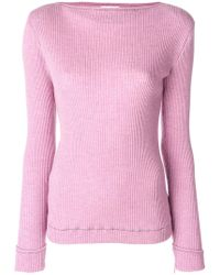 Veronique Leroy Ribbed Sweater - Pink