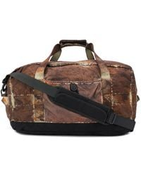 Stone Island Paintball-print Holdall - Brown