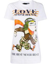 Love Moschino - プリント Tシャツ - Lyst