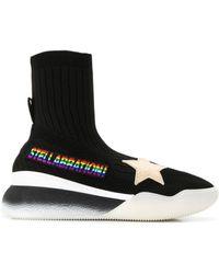Stella McCartney Кроссовки-носки С Нашивками - Черный