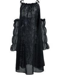 Renli Su オープンショルダー ドレス - ブラック