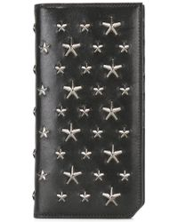 Jimmy Choo - Cooper Star Studded Continental Wallet - Lyst