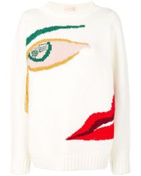 Wunderkind Knitted Face Sweater