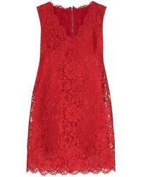 Dolce & Gabbana - Короткое Кружевное Платье-трапеция - Lyst