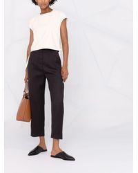 Totême Cropped Straight-leg Pants - Black