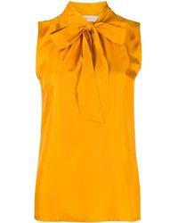 Tory Burch Блузка С Бантом - Оранжевый