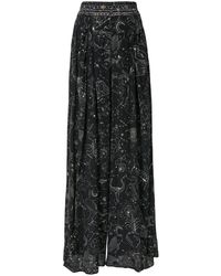 Camilla It's A Sign Wide Leg Trousers - Black