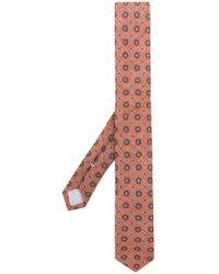Eleventy - Floral Print Tie - Lyst