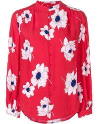 Equipment Camicia con stampa floreale - Rosso