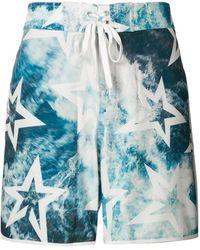 Perfect Moment Super Mojo Ocean Print Swim Shorts - Blue