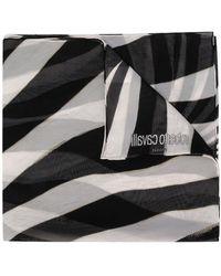 Roberto Cavalli ゼブラ スカーフ - ブラック