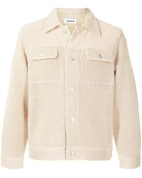 Coohem Knitted Shirt Jacket - Brown