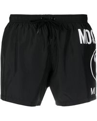 Moschino Double Question Mark トランクス水着 - ブラック