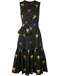 Carolina Herrera Vestito a fiori - Nero