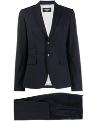 DSquared² Gestreifter Anzug - Blau
