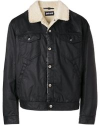 Just Cavalli - Shearling-lined Denim Jacket - Lyst