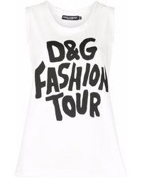Dolce & Gabbana D&g Fashion Tour タンクトップ - ホワイト