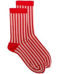 Bellerose Striped Socks - Red