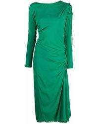 N°21 Платье Миди Со Сборками - Зеленый
