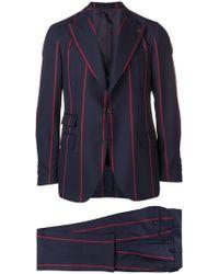 Gabriele Pasini Striped Two-piece Suit - Blue