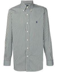 Ralph Lauren - Logo Striped Fitted Shirt - Lyst