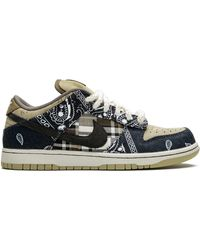 Nike X Travis Scott Sb Dunk Low-top Sneakers - Blue