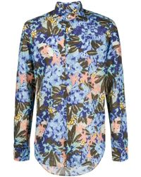Dell'Oglio - Abstract Floral Print Shirt - Lyst