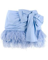 N°21 リボン ミニスカート - ブルー