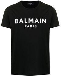 Balmain - Camiseta con logo estampado - Lyst
