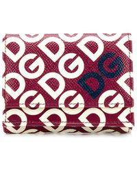 Dolce & Gabbana Cartera Dauphine DG Logo pequeña - Rojo