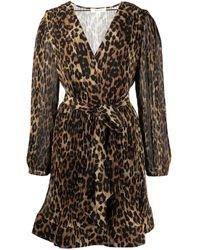 MILLY Robe Liv courte à imprimé léopard - Multicolore