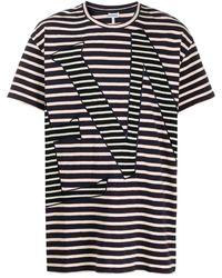 Loewe ストライプ Tシャツ - ブルー