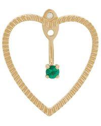 Yvonne Léon 18kt Gold And Emerald Heart Earrings - Metallic