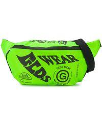 Gcds オーバーサイズ ロゴ ベルトバッグ - グリーン